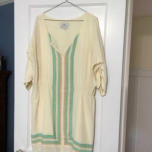 Madison Marcus silk drop waist dress